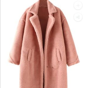 Goodnight Macaroon Alexus Pink Lapels Teddy Coat
